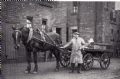 J Deas delivering the milk for Kelty Co-operative at Grievesland Terrace early 1900s